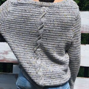 Sweater with braided back